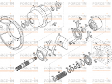 Гидронасос Terex Funchs 5469661245 (HPR160D-01R Linde Hydraulics)