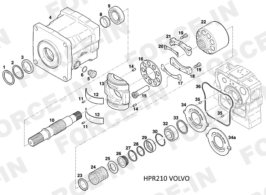 Уплотнения 56x62x5   HPR210